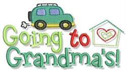 Going To Grandmas embroidery design