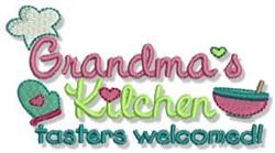Grandmas Kitchen embroidery design