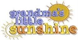 Grandmas Sunshine embroidery design
