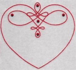 Swirled Heart embroidery design