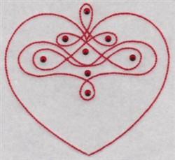 Heart Swirls embroidery design