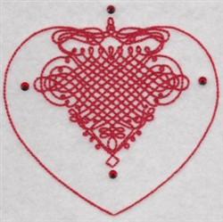 Swirled Hearts embroidery design