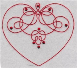 Flourished Heart embroidery design