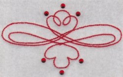Swirled Decor embroidery design
