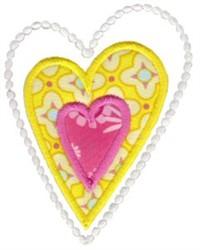 Hearts Applique embroidery design