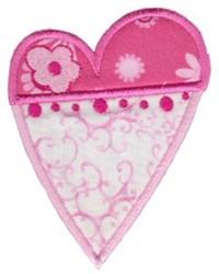 Applique Hearts embroidery design