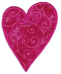 Applique Swirl Heart embroidery design
