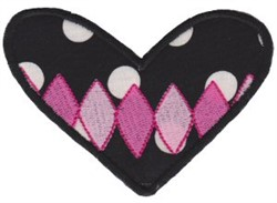 Applique Diamond Heart embroidery design