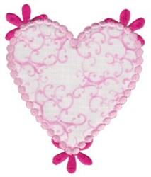 Applique Heart embroidery design