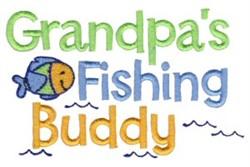 Grandpas Fishing Buddy embroidery design