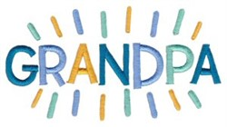 Grandpa embroidery design