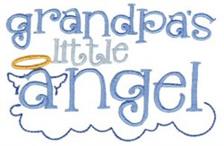 Grandpas Angel embroidery design