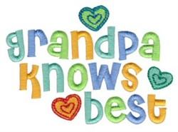 Grandpa Knows Best embroidery design