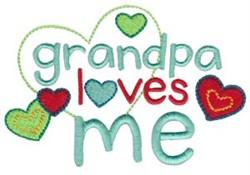 Grandpa Loves Me embroidery design