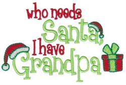 I Have Grandpa embroidery design