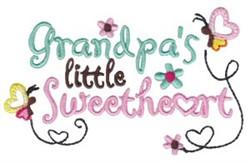 Grandpas Sweetheart embroidery design