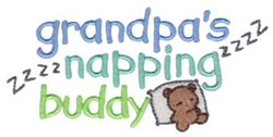Napping Buddy embroidery design