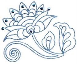 Jacobean Flower embroidery design