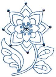 Redwork Bloom embroidery design