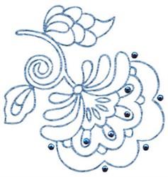 Flower Redwork embroidery design