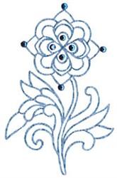 Jacobean Redwork embroidery design