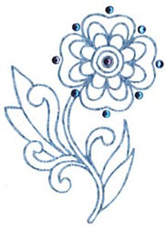 Jacobean Bloom embroidery design
