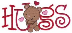 Valentine Hugs embroidery design