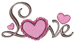 Valentine Love embroidery design
