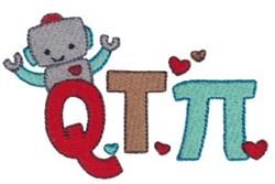 Q T Pi embroidery design