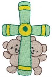 Teddy Bear Cross embroidery design