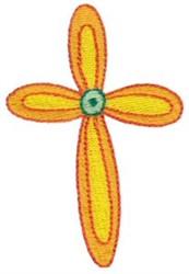 Flower Cross embroidery design