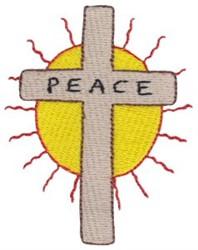Peace Cross embroidery design