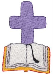 Cross & Bible embroidery design