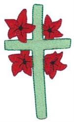 Floral Cross embroidery design