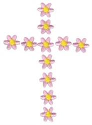 Daisy Cross embroidery design