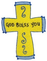 God Bless You embroidery design