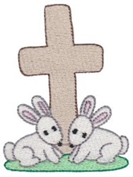 Easter Bunny Cross embroidery design
