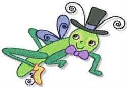 Cartoon Grasshopper embroidery design