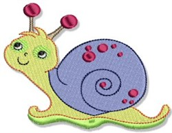 Cartoon Snail embroidery design