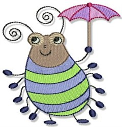 Cartoon Beetle embroidery design