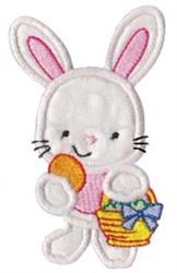 Easter Rabbit Applique embroidery design