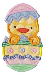 Easter Egg & Chick embroidery design