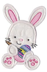 Painting Easter Bunny Applique embroidery design