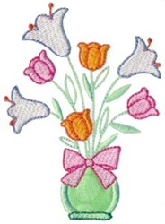 Easter Lily Applique embroidery design