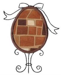 Egg & Stand Applique embroidery design