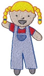 Old MacDonald Little Girl embroidery design