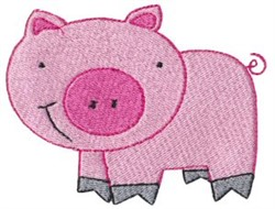 Old MacDonald Pig embroidery design