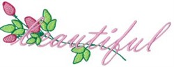 Beautiful Roses embroidery design