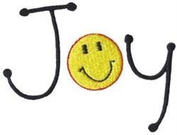 Joy Happy Face embroidery design