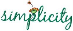 Enjoy Simplicity embroidery design